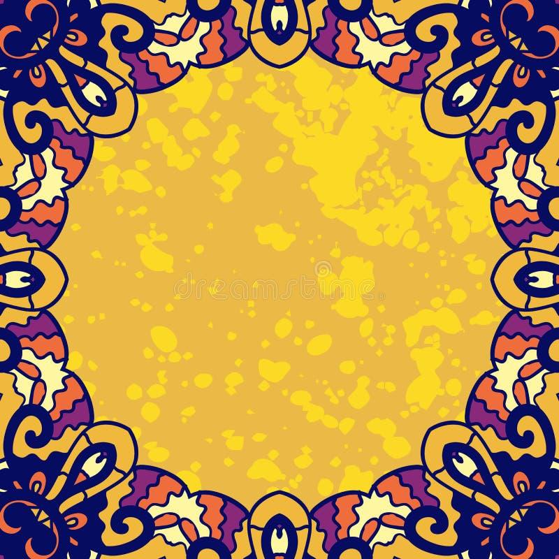 Rocznika ornamentu round rama dla teksta stylizowany ilustracja wektor