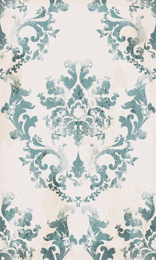 Rocznika ornamentu wzoru bezszwowy wektor Barokowy klasyczny tło Królewska Wiktoriańska tekstura Stary malujący stylowy wystrój royalty ilustracja