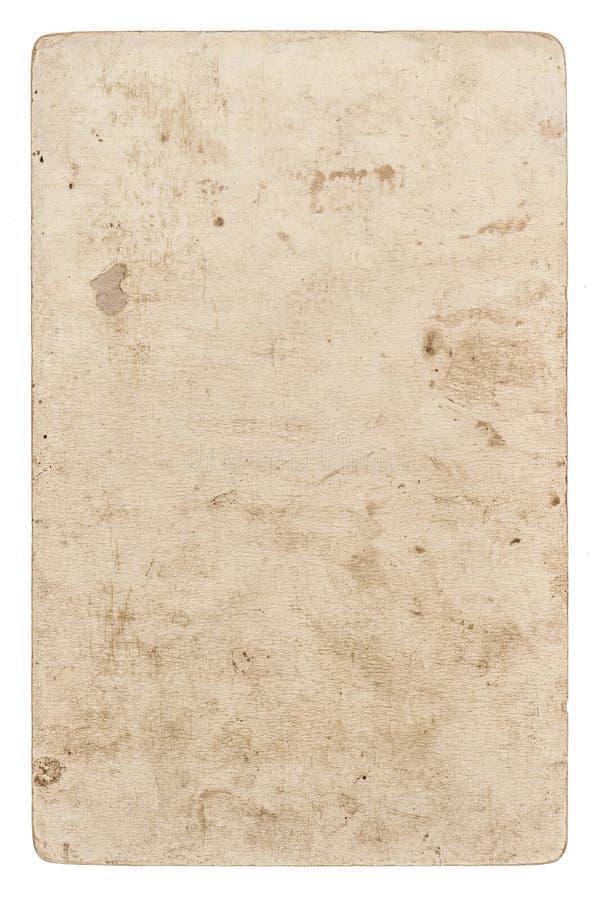 Rocznika papieru karton Używać prześcieradło odizolowywał białego tło obrazy royalty free