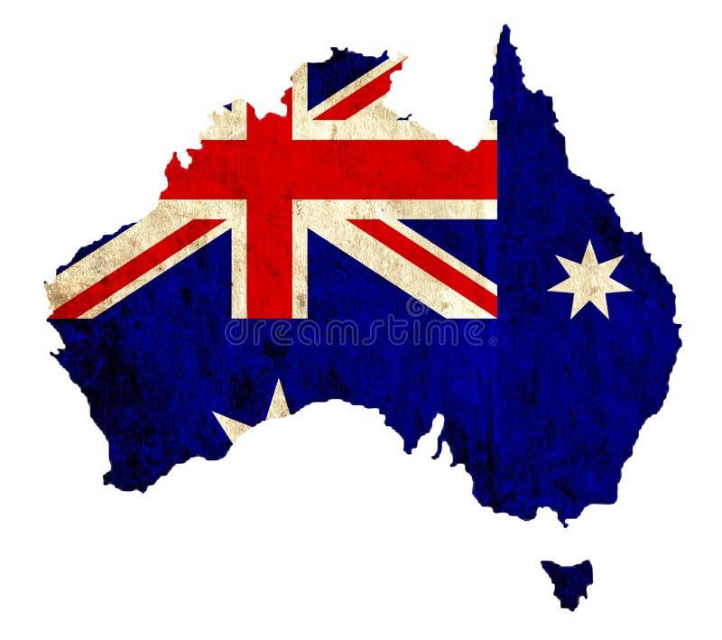 Rocznika papieru mapa Australia ilustracja wektor