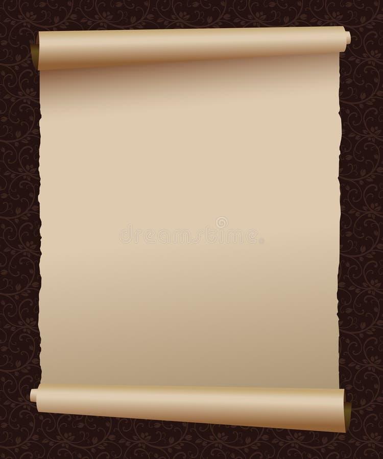 Rocznika pergamin ilustracji