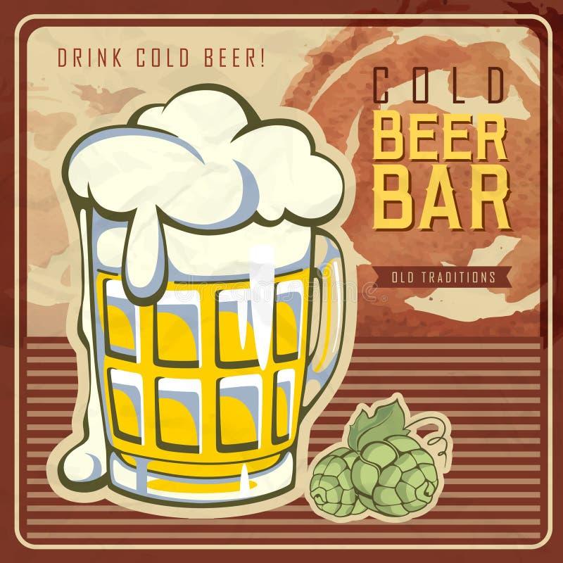 Rocznika piwa plakat ilustracji