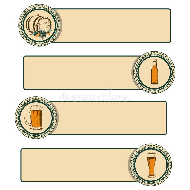 Rocznika piwa rama ilustracji