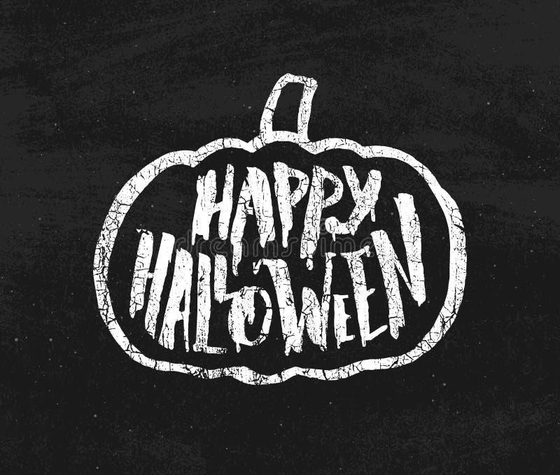 Rocznika plakat dla Halloween przyjęcia z typografią royalty ilustracja