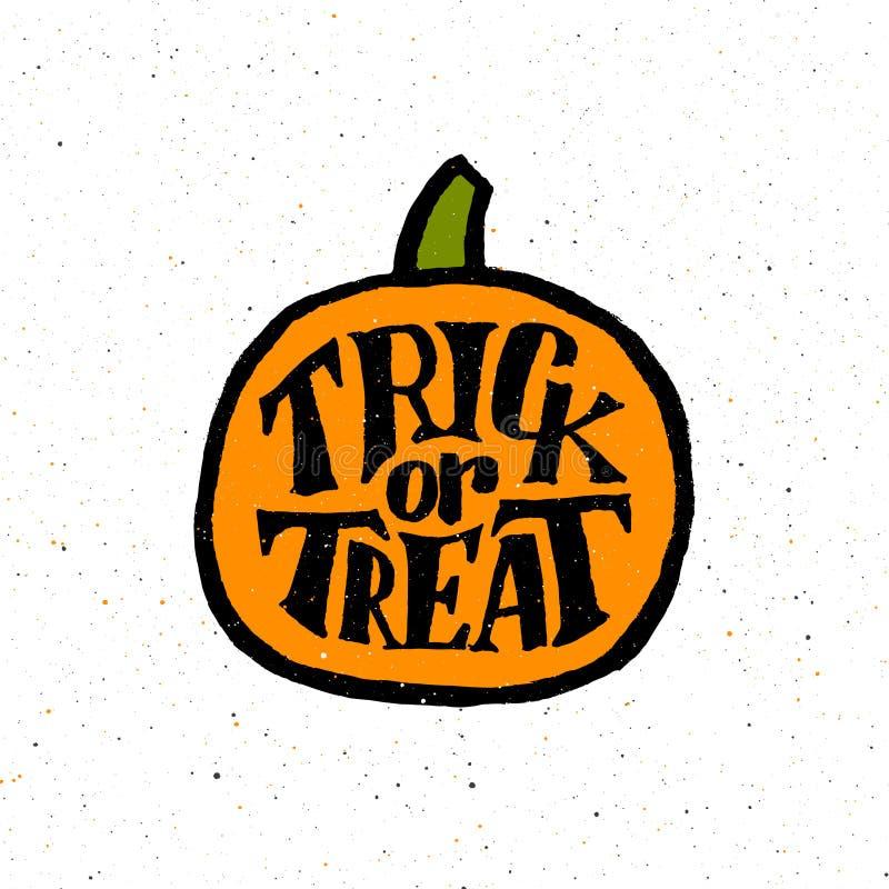 Rocznika plakat dla Halloween przyjęcia z typografią ilustracja wektor