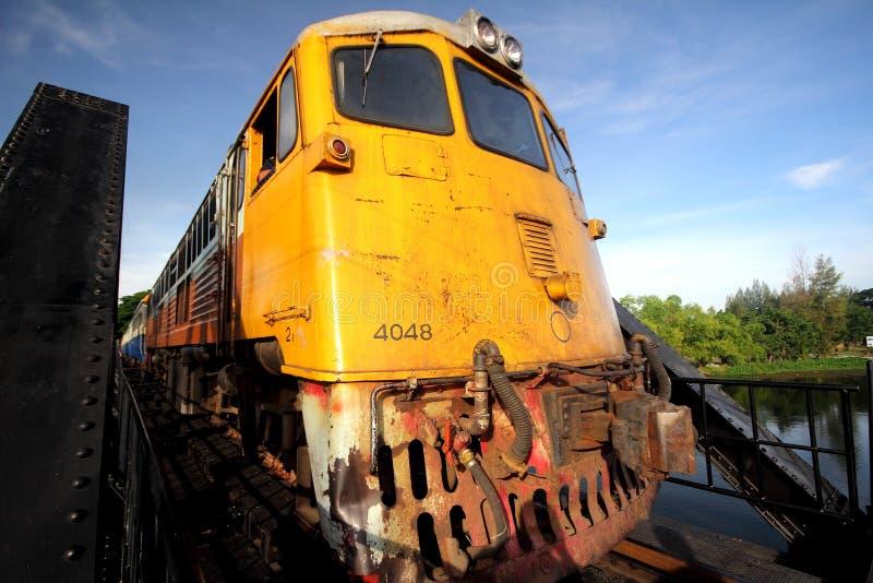 Rocznika pociąg w Tajlandia zdjęcia stock