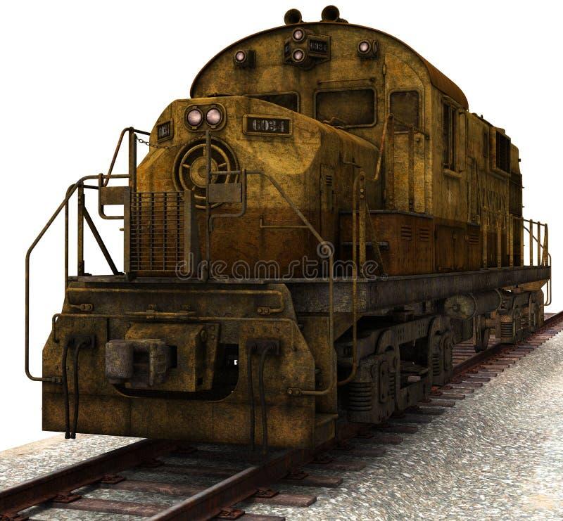 Rocznika pociągu towarowego ilustracja Odizolowywająca ilustracja wektor