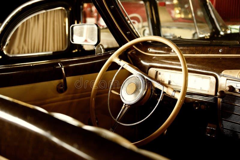 Rocznika pojazdu wnętrze obrazy royalty free