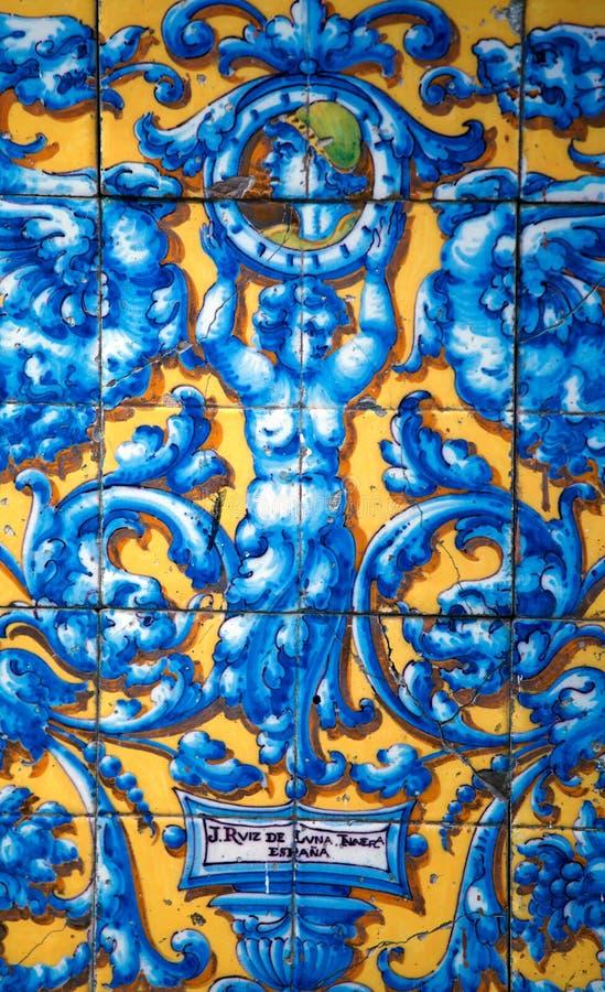 Rocznika Porcelany płytka zdjęcie royalty free