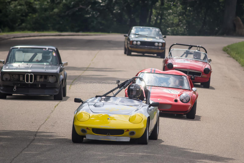 Rocznika Prix Uroczyści samochody wyścigowi zdjęcia stock