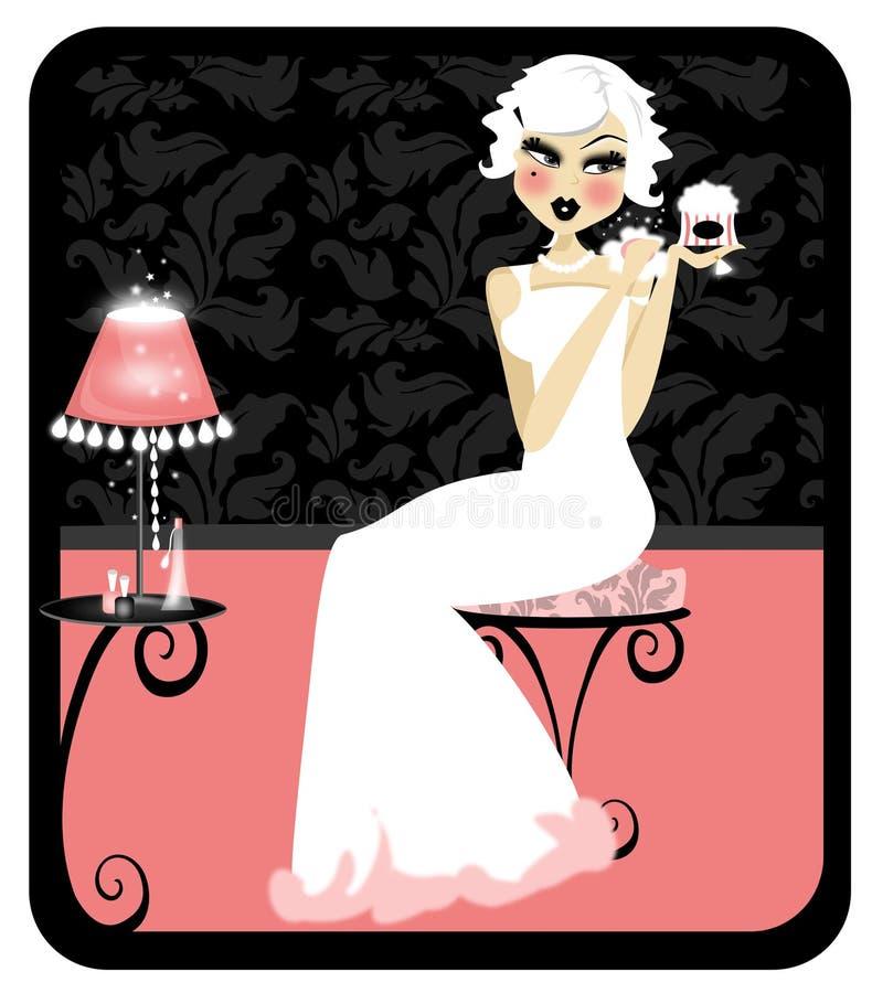 Rocznika Projekt royalty ilustracja