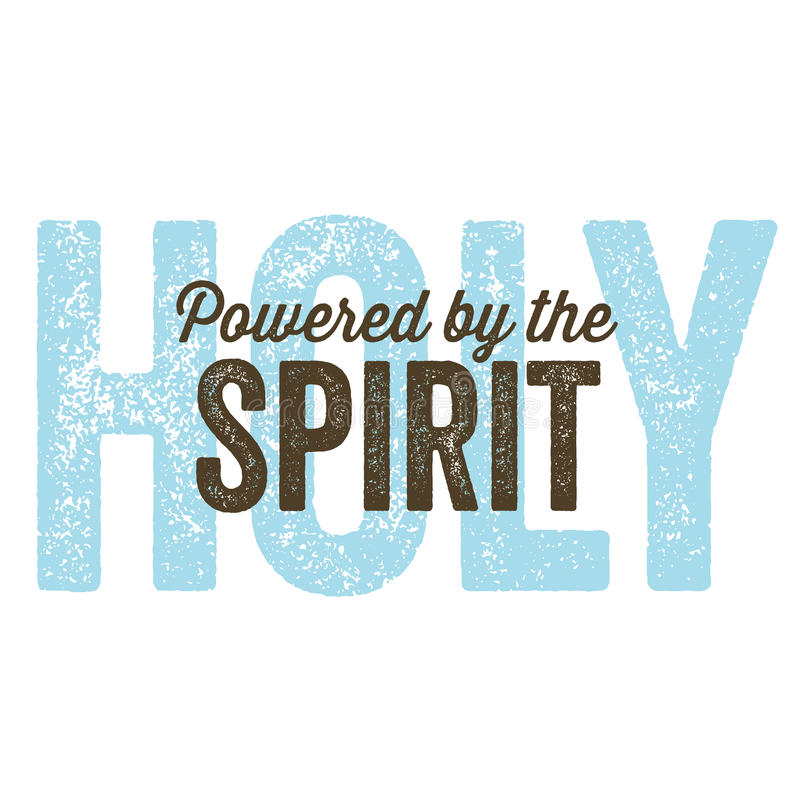 Rocznika projekta â Chrześcijański duch ilustracja wektor