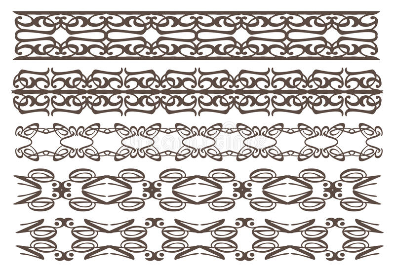 Download Rocznika Projekta Dekoracyjni Elementy Ilustracja Wektor - Obraz: 33031333