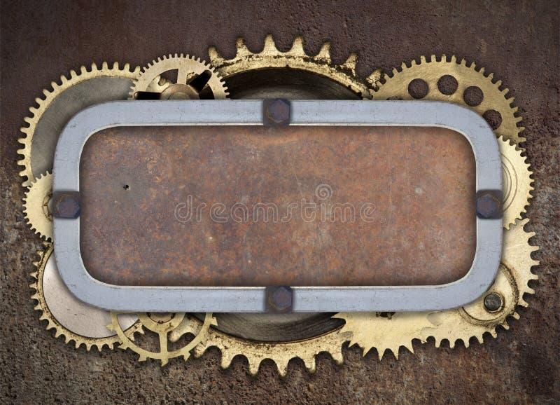 Rocznika przemysłowy machinalny tło zdjęcie stock
