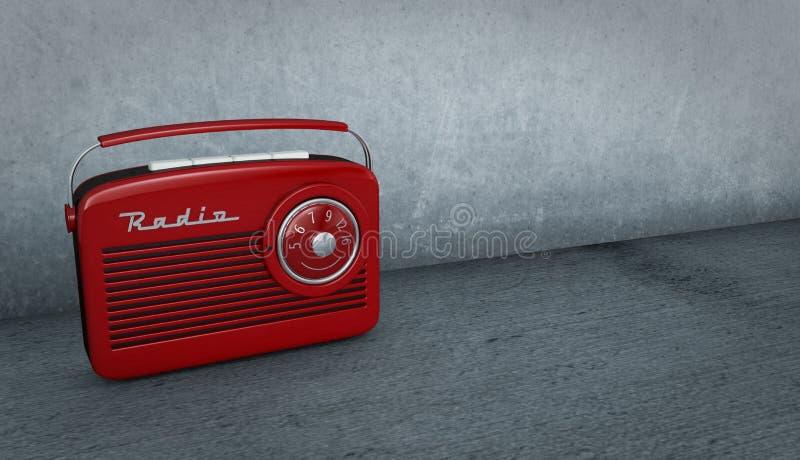 Rocznika radio ilustracja wektor