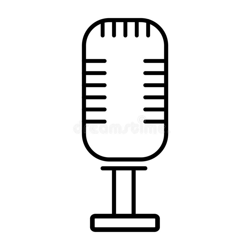 Rocznika radiowy mikrofon ilustracji