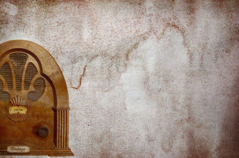 Rocznika radiowy tło zdjęcia stock