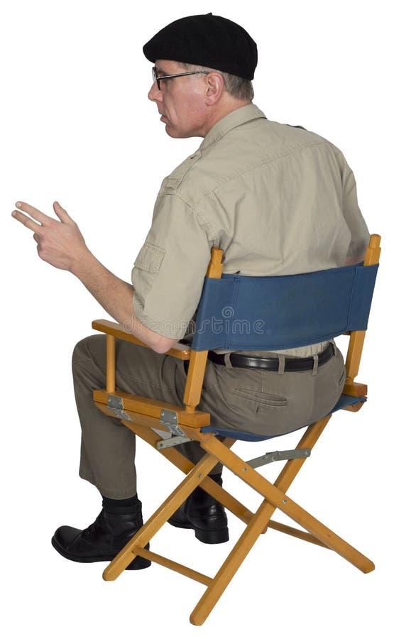 Rocznika Retro Stylowy reżyser filmowy Odizolowywający zdjęcia royalty free