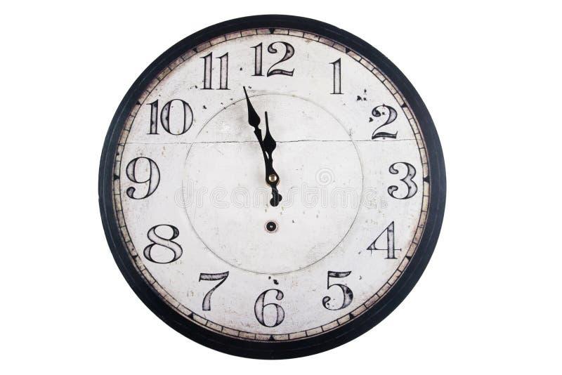 Rocznika round ścienny zegar zdjęcie royalty free