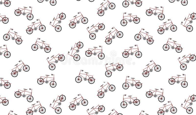 Rocznika roweru wzór zdjęcia stock