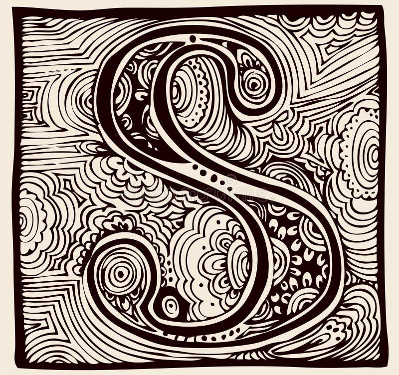 Rocznika S monogram ilustracja wektor