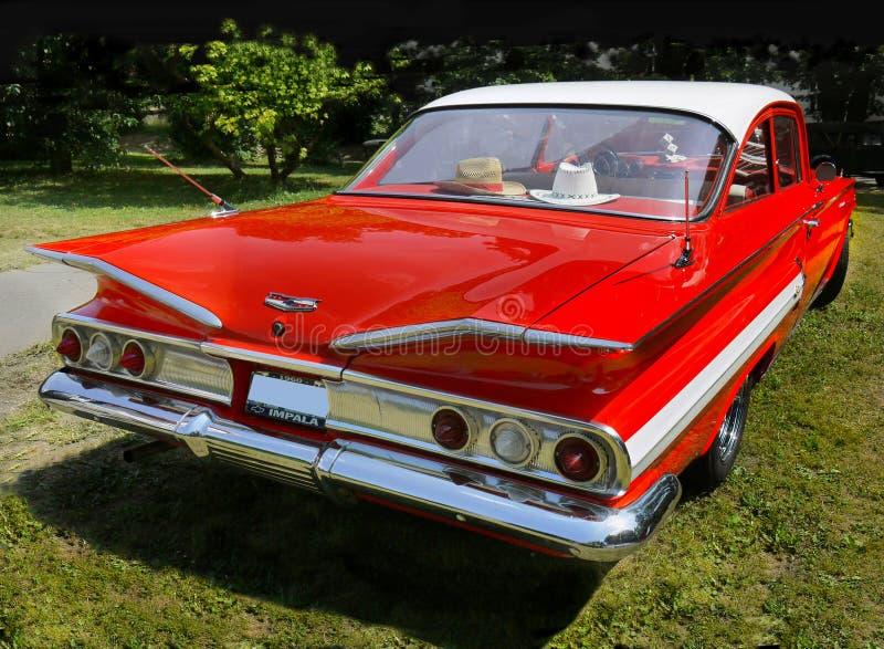 Rocznika samochód, Chevrolet Impala, Bawi się Coupe zdjęcie royalty free