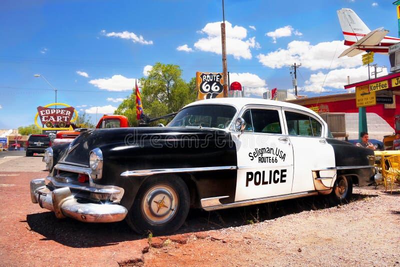 Rocznika samochód policyjny, Seligman, Arizona usa zdjęcia royalty free