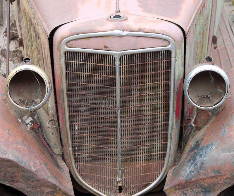 Rocznika samochodowy grill zdjęcie stock