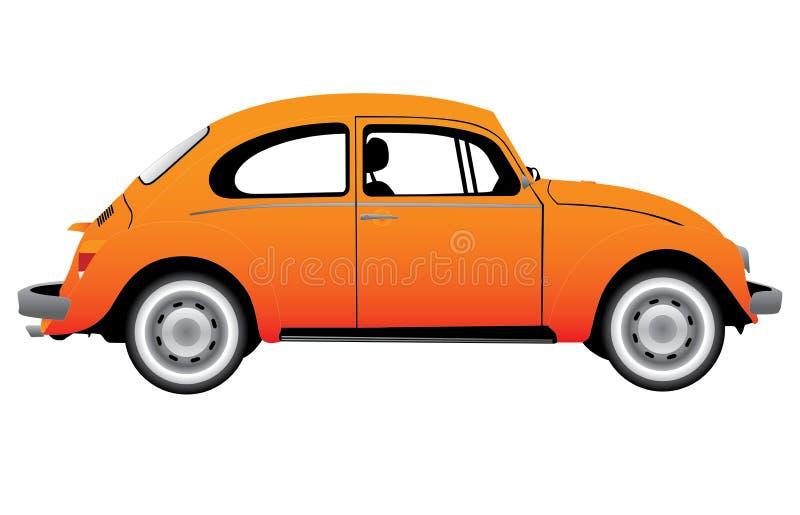 rocznika samochodowy kolor żółty ilustracji