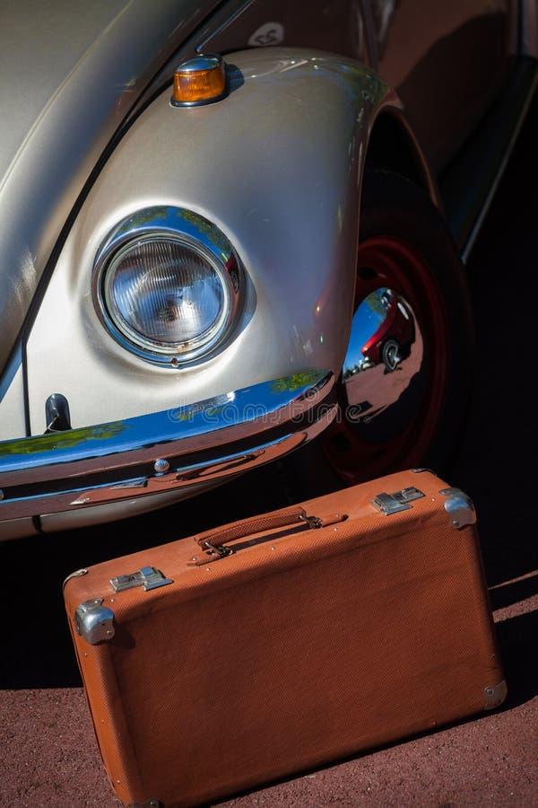 Rocznika samochodu reflektor zdjęcie stock