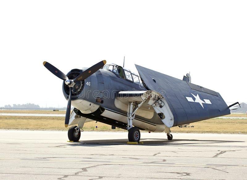 Rocznika samolot wojskowy zdjęcie stock