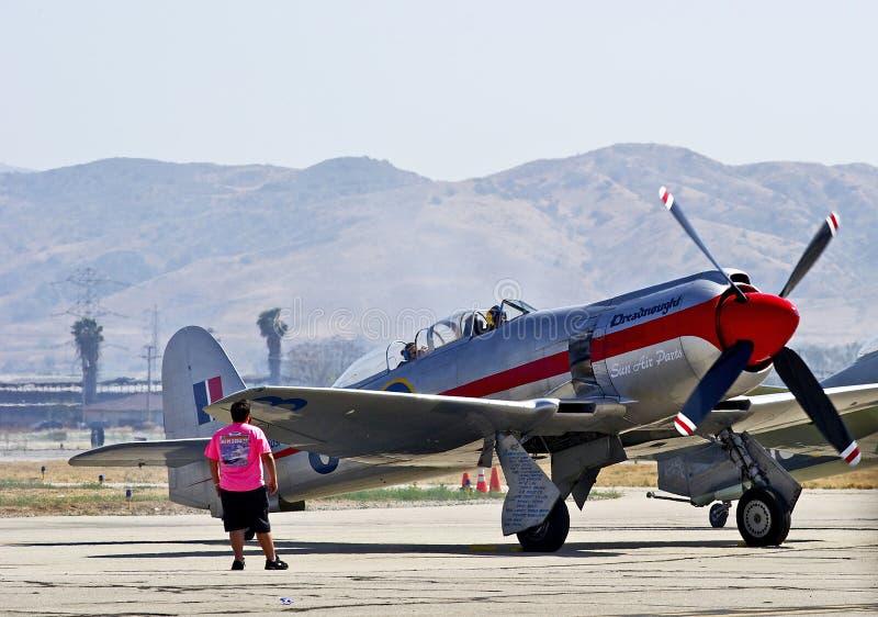 Rocznika samolot wojskowy fotografia stock
