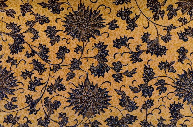 Batikowego rocznika Kwiecisty tło obrazy royalty free