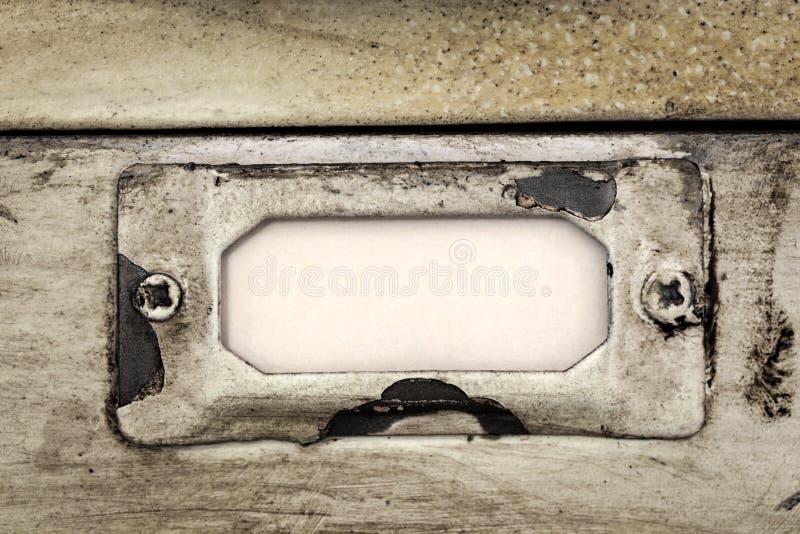 Rocznika segregowania gabineta kreślarza etykietka zdjęcie royalty free