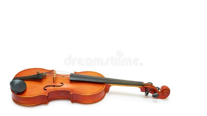 Rocznika skrzypce będący ubranym czasu i muzyki mistrzami pojedynczy białe tło odbitkowa przestrzeń, szablon obrazy stock