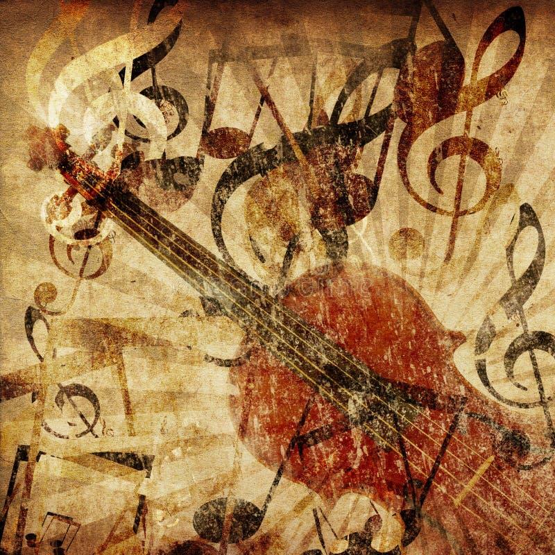Rocznika skrzypce tło ilustracja wektor