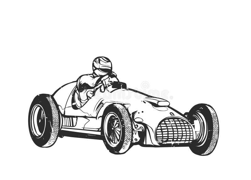 Rocznika sporta bieżny samochód obraz royalty free