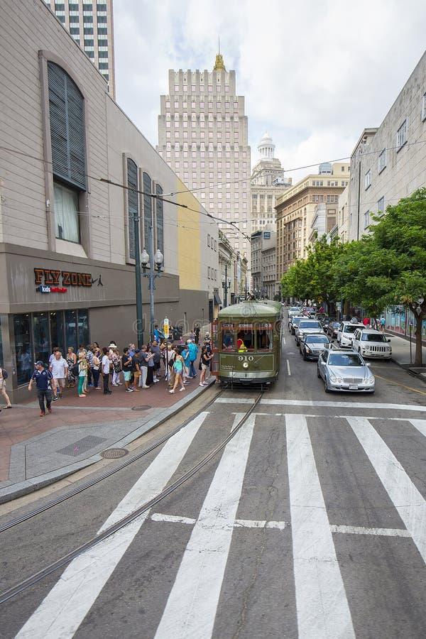 Rocznika St Charles tramwaj w dzielnicie francuskiej zdjęcie royalty free
