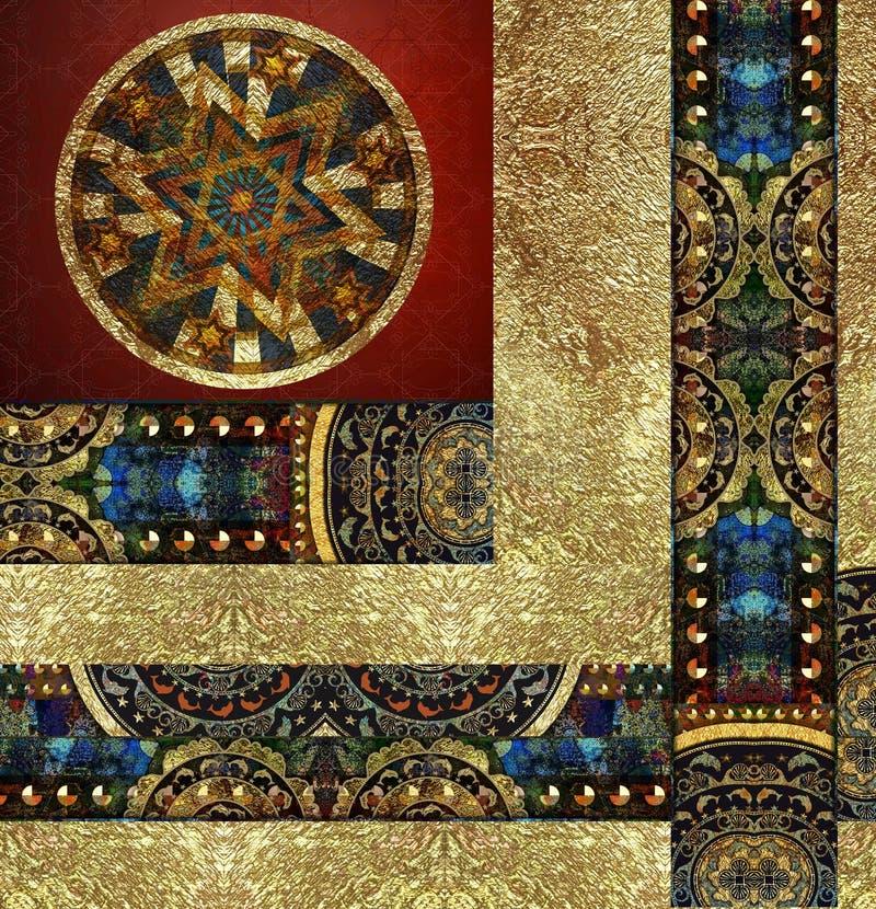 Rocznika starego kwiecistego wzorzystego tła barwiony egzot zdjęcia stock