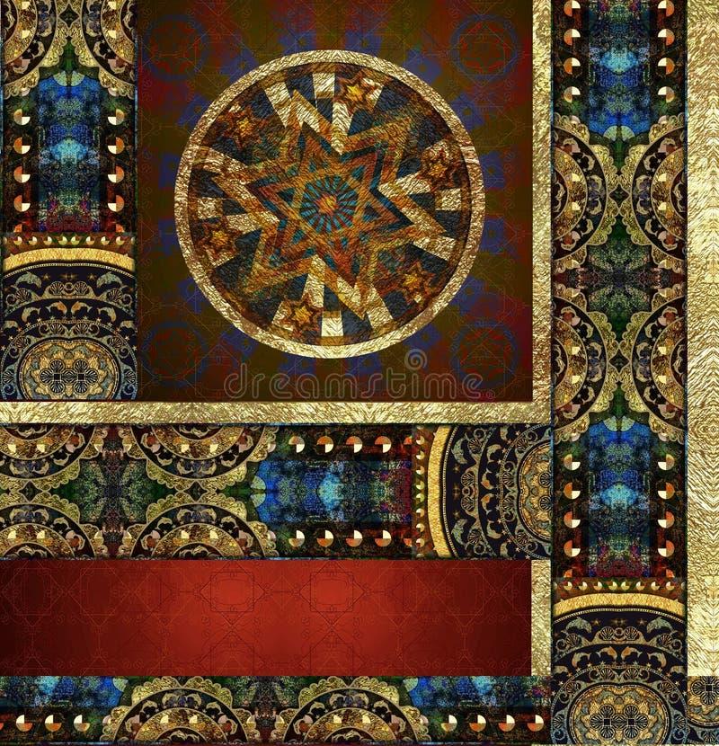 Rocznika starego kwiecistego wzorzystego tła barwiony egzot obraz stock