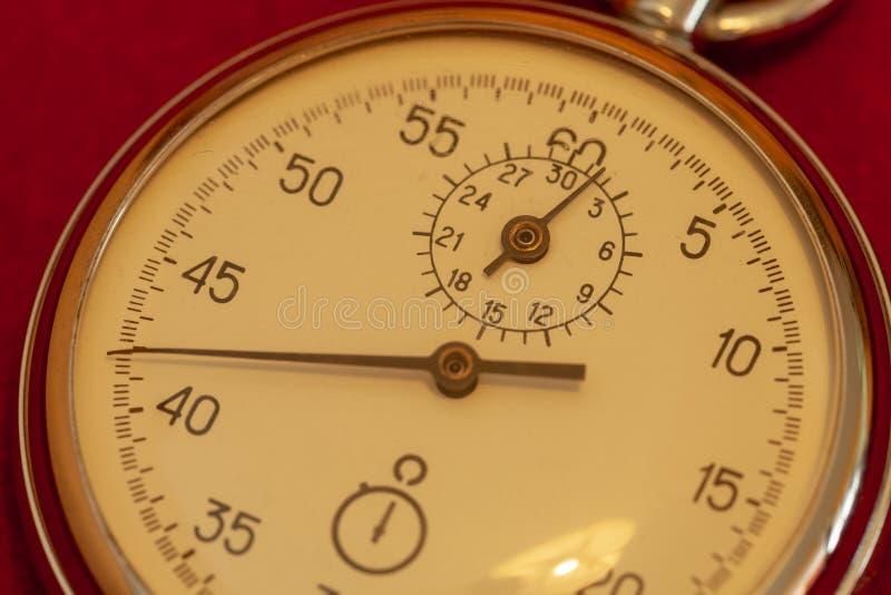 Rocznika stopwatch zbliżenie fotografia royalty free