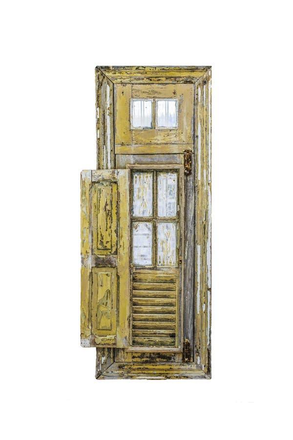 Rocznika Stylowy Drewniany okno fotografia stock