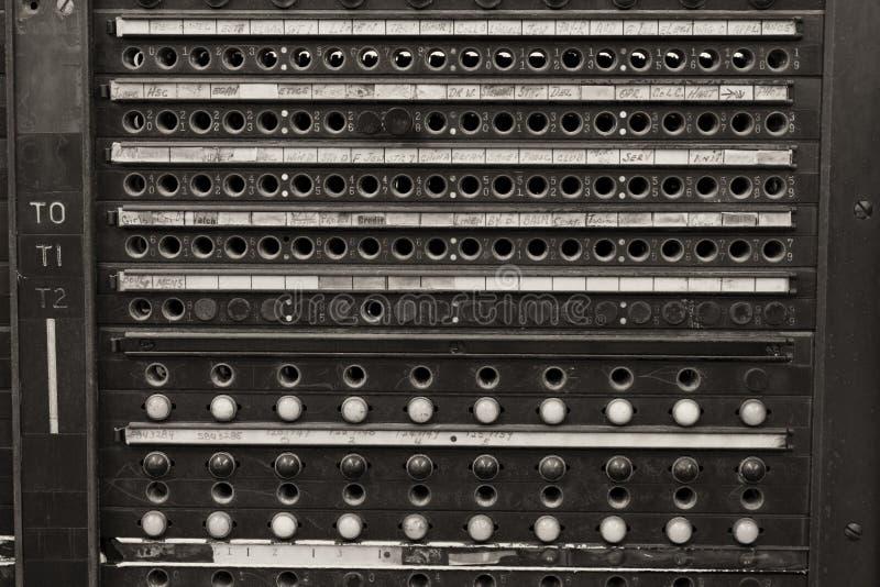 Rocznika systemu telefonu Dzwonkowy Switchboard zdjęcia stock