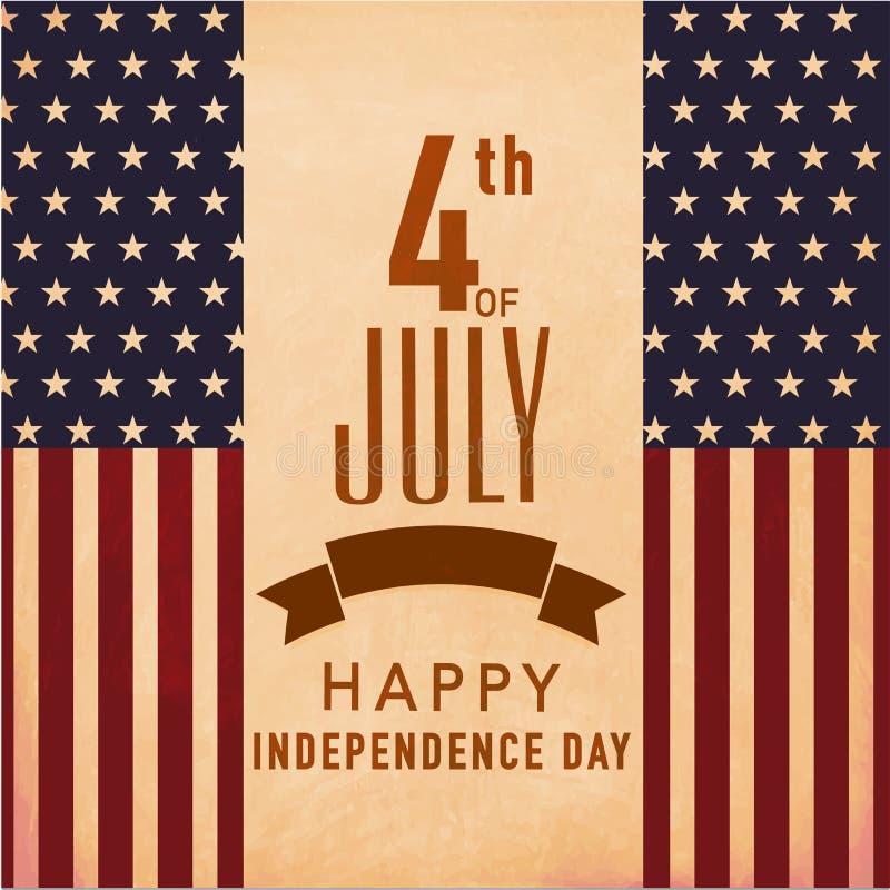 Download Rocznika Sztandar Dla Amerykańskiego Dnia Niepodległości Lub Plakat Ilustracji - Ilustracja złożonej z obywatel, nacjonalizm: 53778222