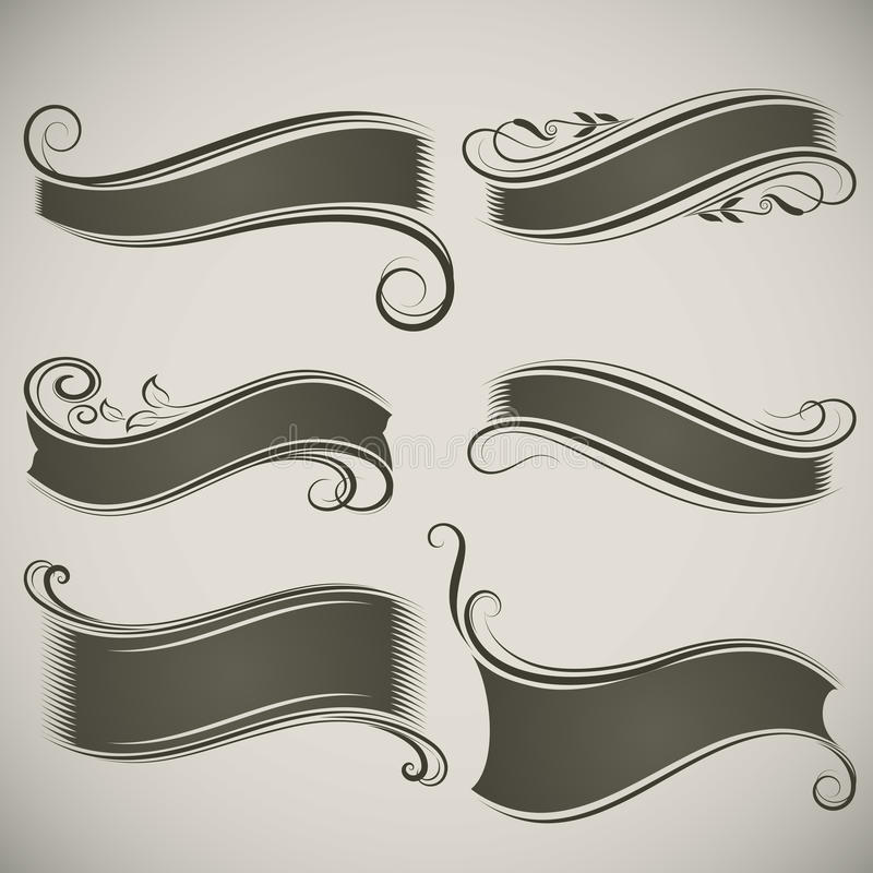 Rocznika sztandaru kształty zdjęcia stock