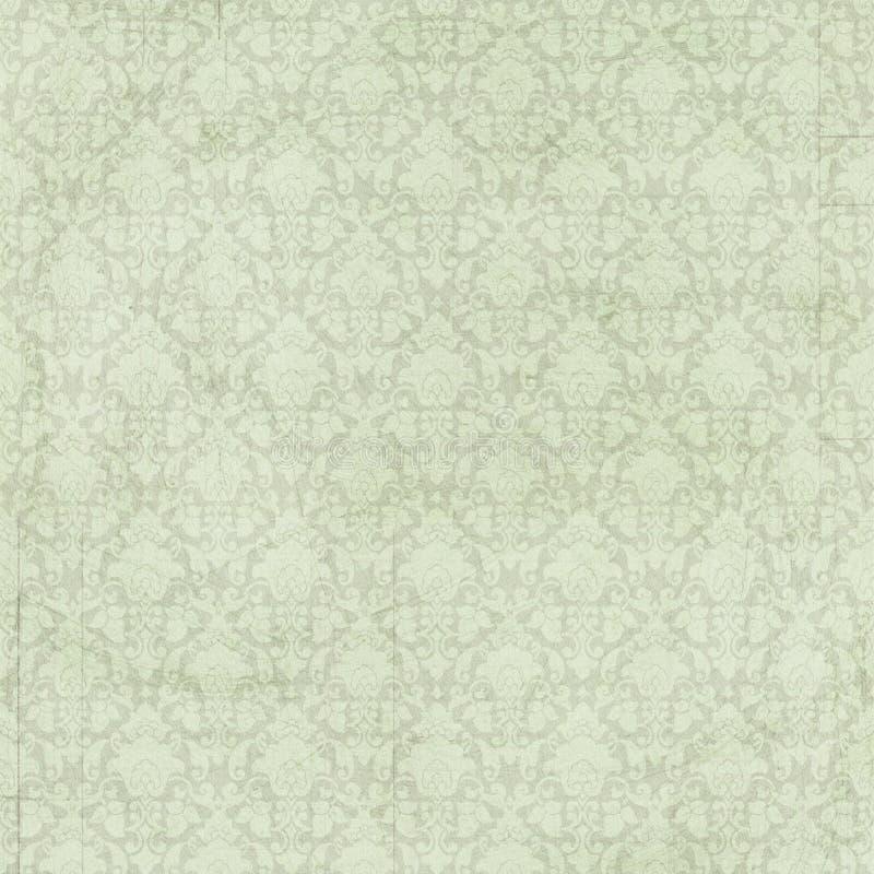 Rocznika szyka zieleni adamaszka podławy tło obraz royalty free