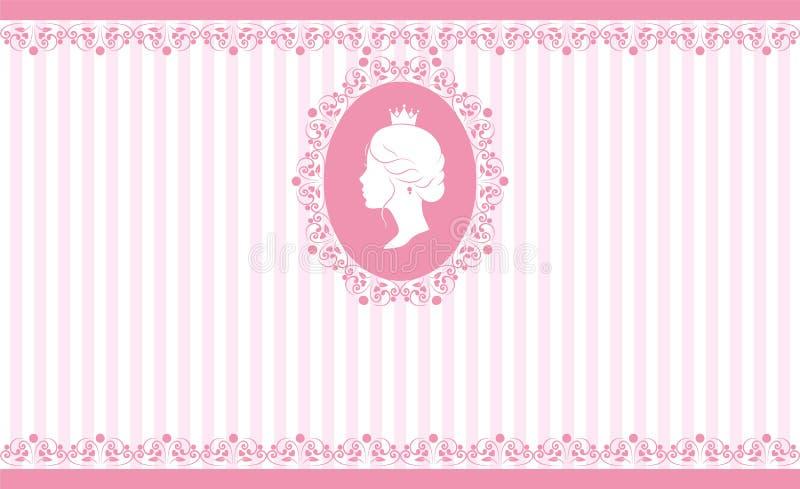 Rocznika tła różowy projekt ilustracji