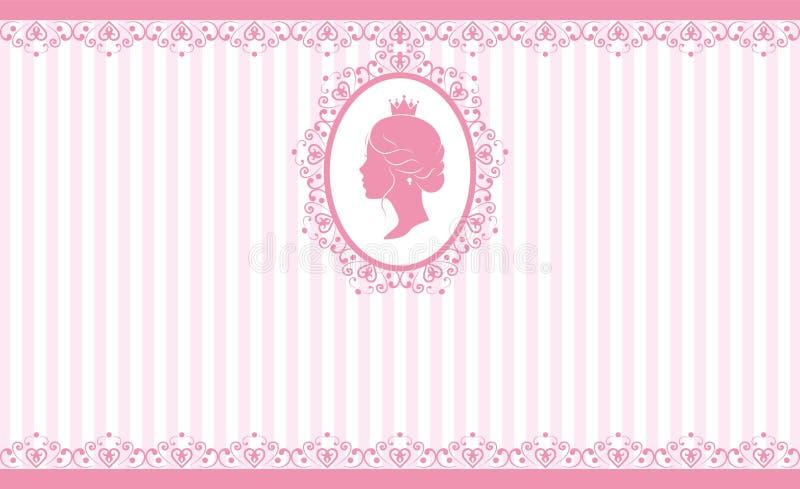 Rocznika tła różowy projekt royalty ilustracja