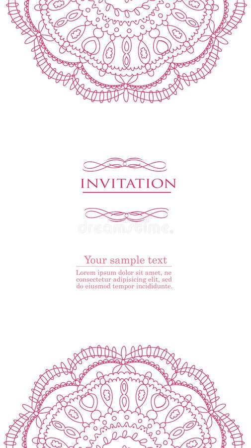 Rocznika tło dla zaproszenie karty wektoru royalty ilustracja