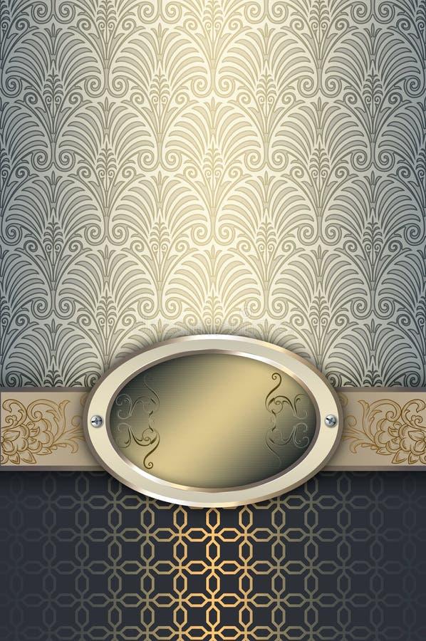Download Rocznika Tło Z Elegancką Ramą Ilustracji - Ilustracja złożonej z błyszczący, kardamon: 65225896